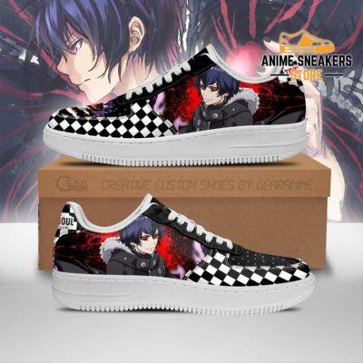 Tokyo Ghoul Ayato Sneakers Custom Checkerboard Shoes Anime Men / Us6.5 Air Force