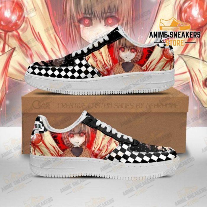 Tokyo Ghoul Hinami Sneakers Custom Checkerboard Shoes Anime Men / Us6.5 Air Force