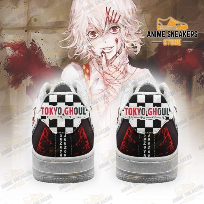 Tokyo Ghoul Juuzou Sneakers Custom Checkerboard Shoes Anime Air Force