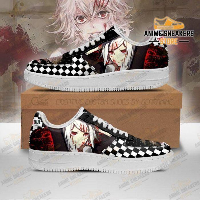 Tokyo Ghoul Juuzou Sneakers Custom Checkerboard Shoes Anime Men / Us6.5 Air Force