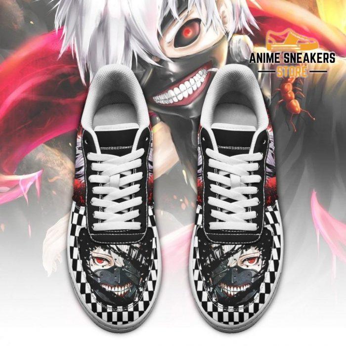 Tokyo Ghoul Kaneki Sneakers Custom Checkerboard Shoes Anime Air Force