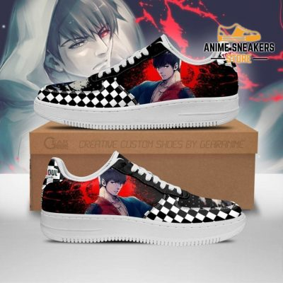 Tokyo Ghoul Koutarou Sneakers Custom Checkerboard Shoes Anime Men / Us6.5 Air Force