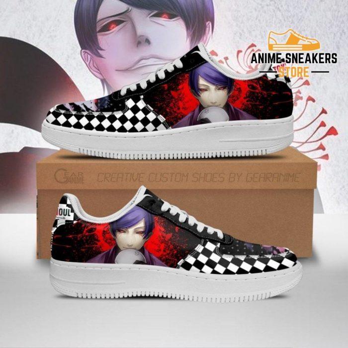 Tokyo Ghoul Tsukiyama Sneakers Custom Checkerboard Shoes Anime Men / Us6.5 Air Force
