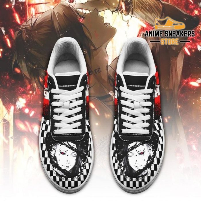 Tokyo Ghoul Uta Sneakers Custom Checkerboard Shoes Anime Leather Air Force