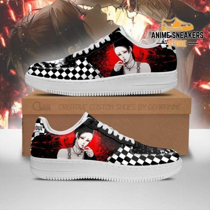 Tokyo Ghoul Uta Sneakers Custom Checkerboard Shoes Anime Leather Men / Us6.5 Air Force