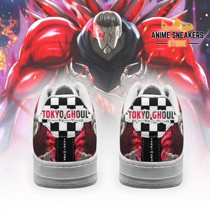 Tokyo Ghoul Yoshimura Sneakers Custom Checkerboard Shoes Anime Air Force