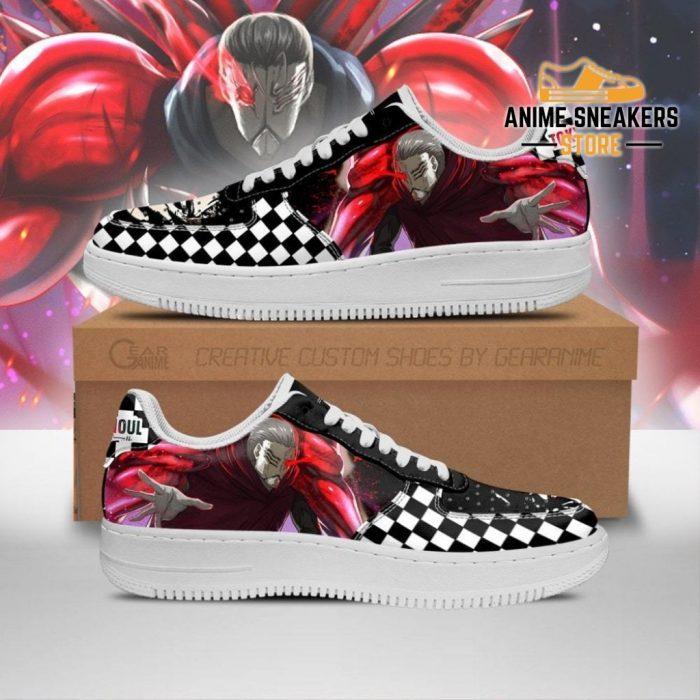Tokyo Ghoul Yoshimura Sneakers Custom Checkerboard Shoes Anime Men / Us6.5 Air Force