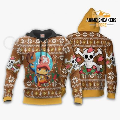 Tony Chopper Ugly Christmas Sweater One Piece Anime Xmas Gift Va10 Hoodie / S All Over Printed