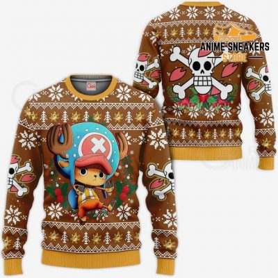 Tony Chopper Ugly Christmas Sweater One Piece Anime Xmas Gift Va10 / S All Over Printed Shirts