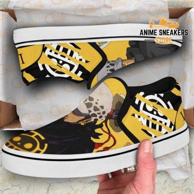Trafalgar D Law Slip On Shoes One Piece Custom Anime Slip-On