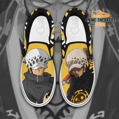 Trafalgar D Law Slip On Shoes One Piece Custom Anime Men / Us6 Slip-On
