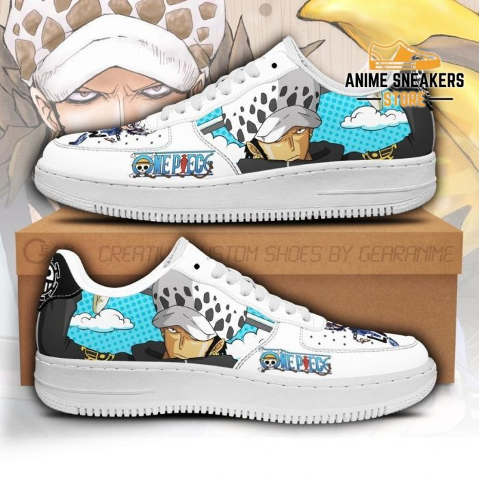 Trafalgar D. Water Law Sneakers Custom One Piece Anime Shoes Fan Pt04 Men / Us6.5 Air Force