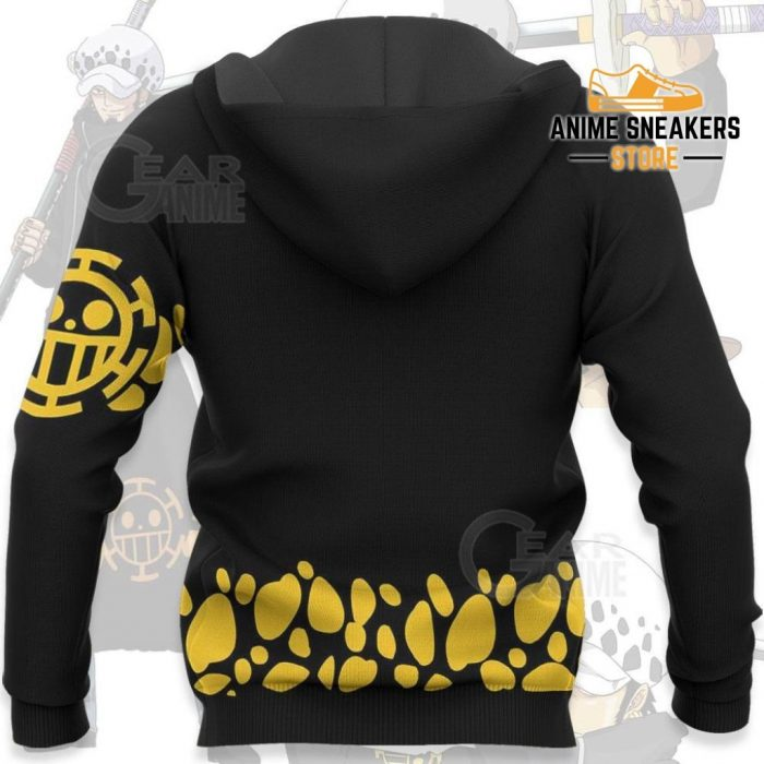 Tragafalar D Water Law Uniform One Piece Anime Hoodie Jacket Va11 All Over Printed Shirts