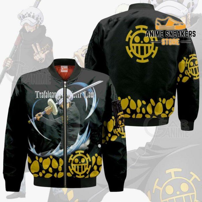 Tragafalar Law Shirt One Piece Anime Hoodie Jacket Va11 Bomber / S All Over Printed Shirts