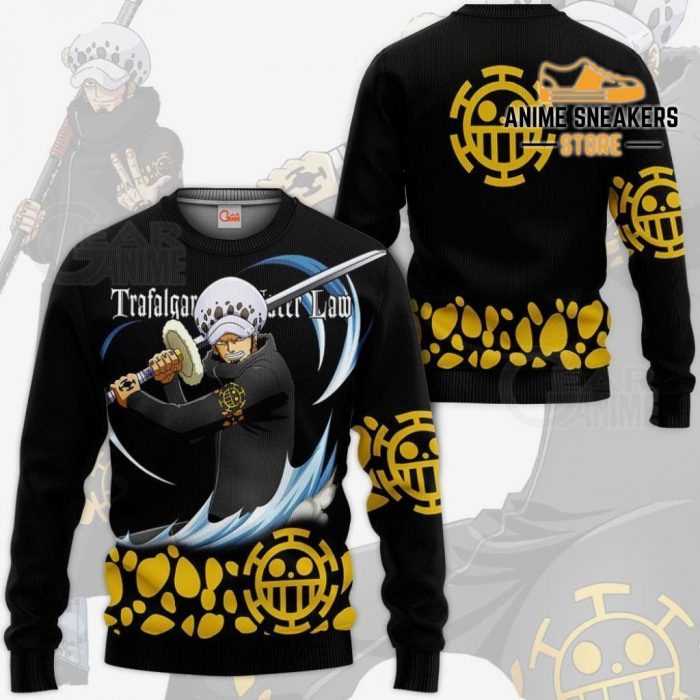 Tragafalar Law Shirt One Piece Anime Hoodie Jacket Va11 Sweater / S All Over Printed Shirts