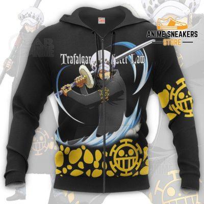 Tragafalar Law Shirt One Piece Anime Hoodie Jacket Va11 Zip / S All Over Printed Shirts