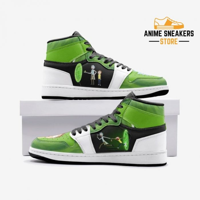Travel Time Rick And Morty Custom J-Force Shoes 3 / White Mens