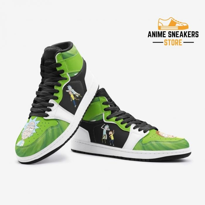 Travel Time Rick And Morty Custom J-Force Shoes Mens