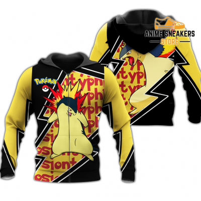 Typhlosion Zip Hoodie Costume Pokemon Shirt Fan Gift Idea Va06 Adult / S All Over Printed Shirts