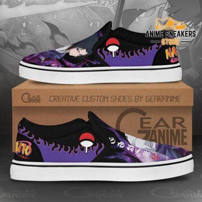 Uchiha Sasuke Slip On Shoes Naruto Custom Anime Pn12 Slip-On
