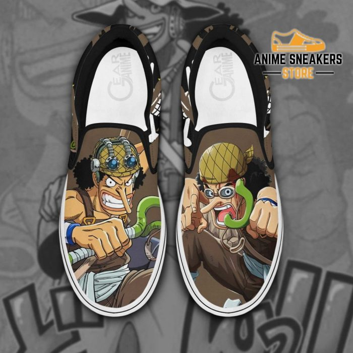 Usopp Slip On Shoes One Piece Custom Anime Men / Us6 Slip-On