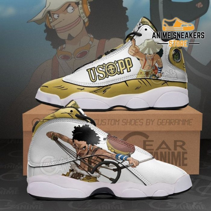 Usopp Sneakers One Piece Anime Shoes Men / Us6 Jd13