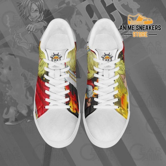 Vinsmoke Sanji Skate Shoes One Piece Custom Anime
