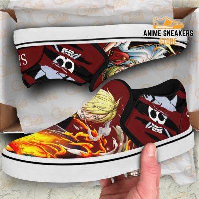 Vinsmoke Sanji Slip On Shoes One Piece Custom Anime Slip-On