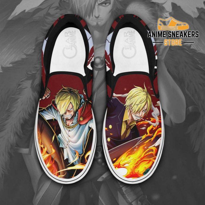 Vinsmoke Sanji Slip On Shoes One Piece Custom Anime Men / Us6 Slip-On