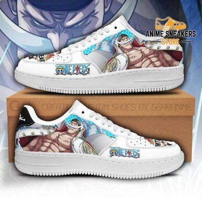 White Beard Sneakers Custom One Piece Anime Shoes Fan Pt04 Men / Us6.5 Air Force