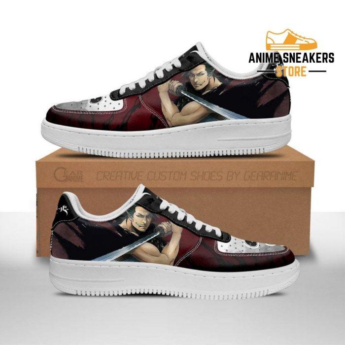 Yami Sukehiro Sneakers Black Bull Knight Clover Anime Shoes Men / Us6.5 Air Force