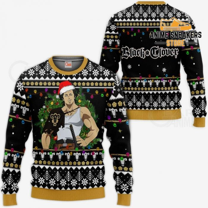 Yami Sukehiro Ugly Christmas Sweater Black Clover Anime Xmas Gift Va11 / S All Over Printed Shirts