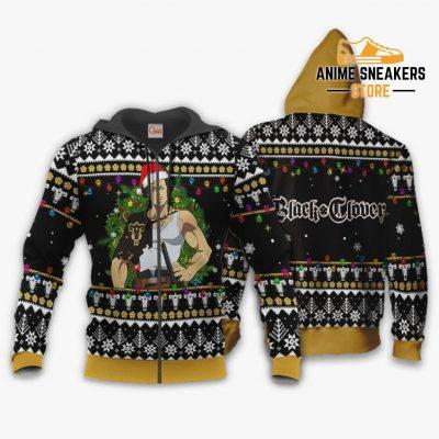 Yami Sukehiro Ugly Christmas Sweater Black Clover Anime Xmas Gift Va11 Zip Hoodie / S All Over