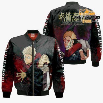Yuji Itadori Hoodie Shirt Jujutsu Kaisen Custom Anime Jacket Bomber / S All Over Printed Shirts