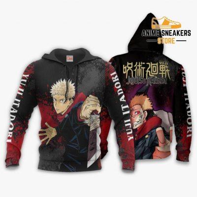 Yuji Itadori Hoodie Shirt Jujutsu Kaisen Custom Anime Jacket / S All Over Printed Shirts