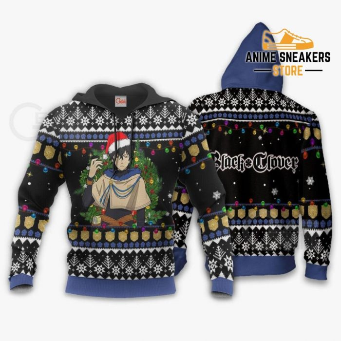 Yuno Ugly Christmas Sweater Black Clover Anime Xmas Gift Va11 Hoodie / S All Over Printed Shirts