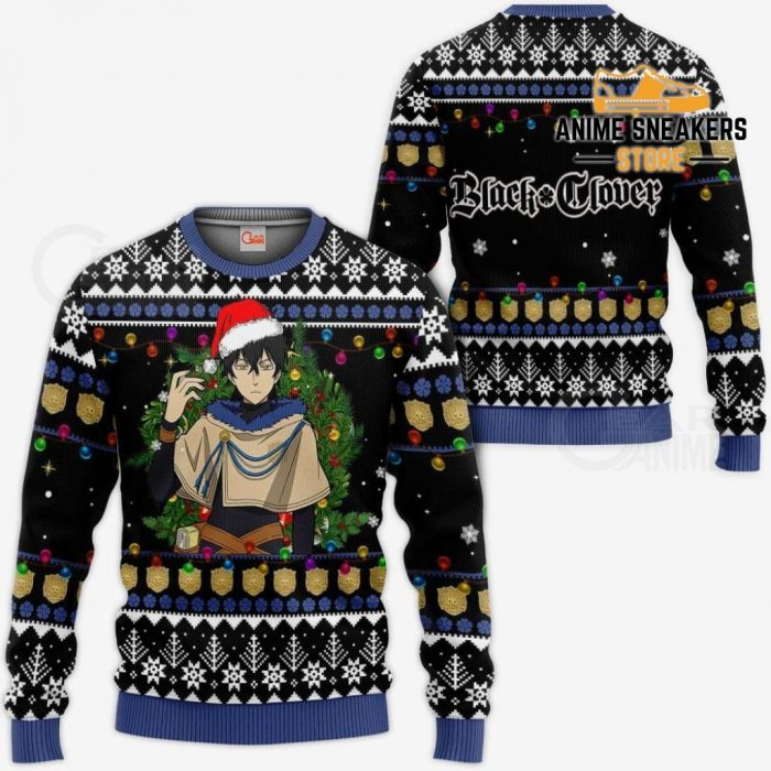 Yuno Ugly Christmas Sweater Black Clover Anime Xmas Gift Va11 / S All Over Printed Shirts