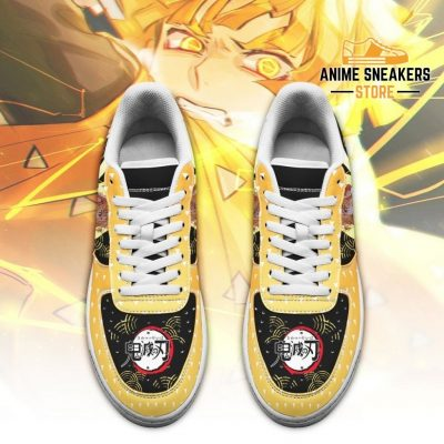 Zenitsu Sneakers Custom Demon Slayer Anime Shoes Fan Pt05 Air Force