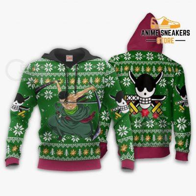 Zoro Ugly Christmas Sweater One Piece Anime Xmas Gift Va10 Hoodie / S All Over Printed Shirts