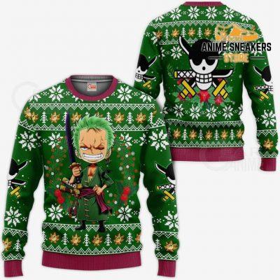 Zoro Ugly Christmas Sweater One Piece Anime Xmas Gift Va10 / S All Over Printed Shirts