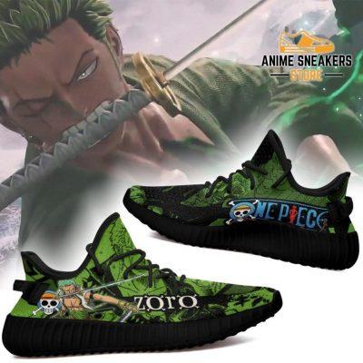 Zoro Yeezy Shoes One Piece Anime Fan Gift Tt04