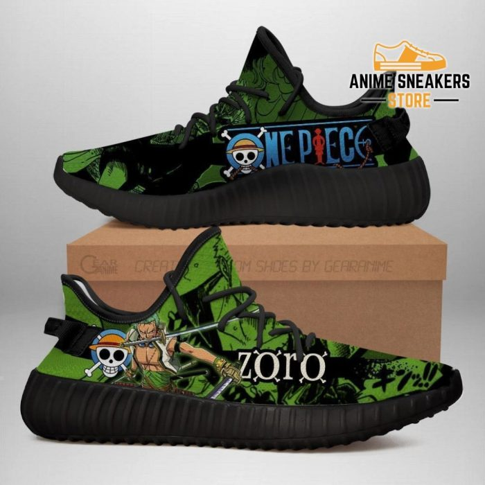 Zoro Yeezy Shoes One Piece Anime Fan Gift Tt04 Men / Us6